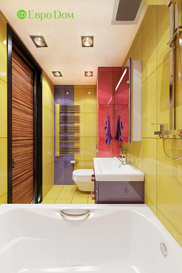 Дизайн двухкомнатной квартиры 65 кв. м в современном стиле. Фото 06