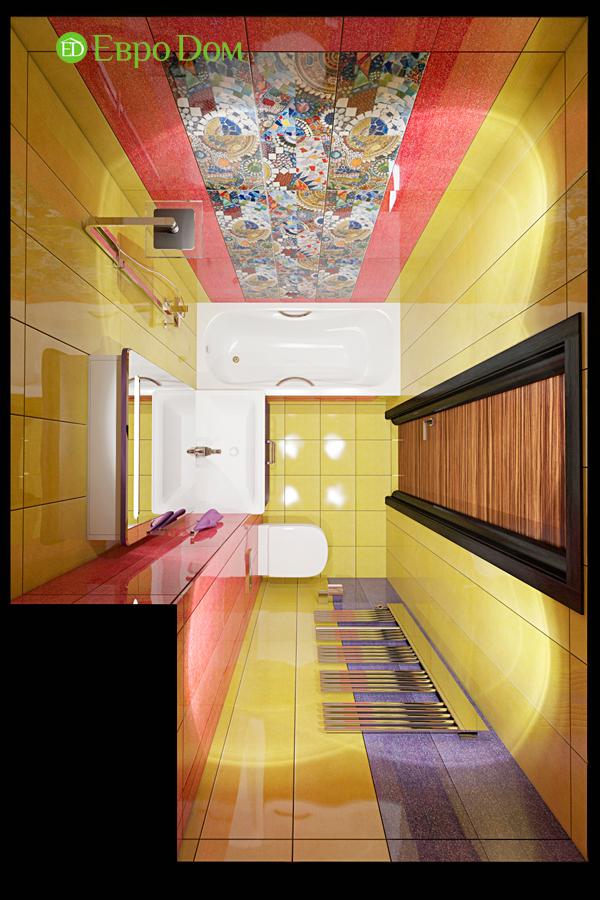 Дизайн двухкомнатной квартиры 65 кв. м в современном стиле. Фото 07