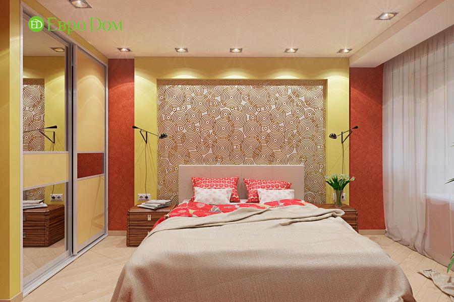 Дизайн двухкомнатной квартиры 65 кв. м в современном стиле. Фото 011