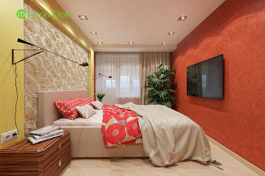 Дизайн двухкомнатной квартиры 65 кв. м в современном стиле. Фото 013