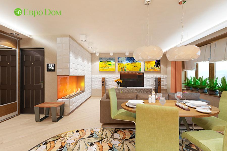 Дизайн двухкомнатной квартиры 65 кв. м в современном стиле. Фото 014