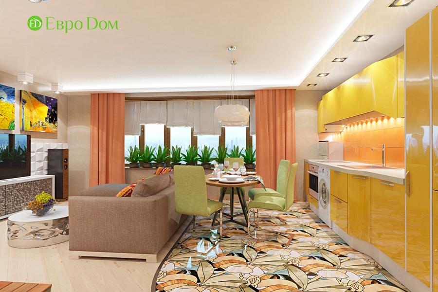Дизайн двухкомнатной квартиры 65 кв. м в современном стиле. Фото 015
