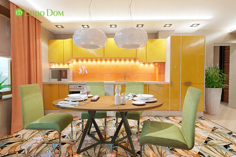 Дизайн двухкомнатной квартиры 65 кв. м в современном стиле. Фото 016