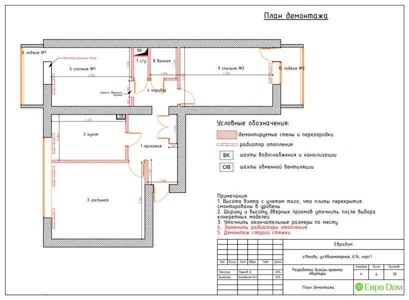 Дизайн двухкомнатной квартиры 65 кв. м в современном стиле. Фото 019