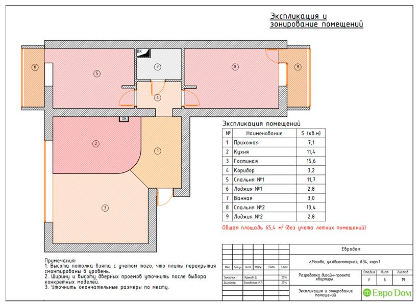 Дизайн двухкомнатной квартиры 65 кв. м в современном стиле. Фото 021