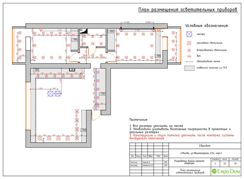 Дизайн двухкомнатной квартиры 65 кв. м в современном стиле. Фото 027