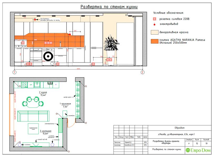 Дизайн двухкомнатной квартиры 65 кв. м в современном стиле. Фото 029