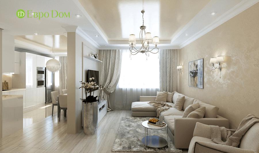 Дизайн интерьера 2-комнатной квартиры 77 кв. м в современном стиле. Фото 03
