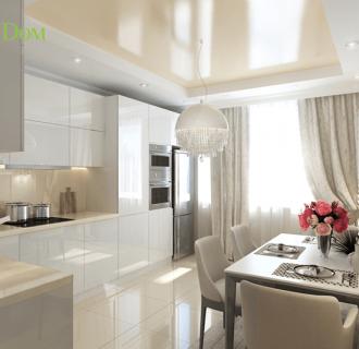 Дизайн двухкомнатной квартиры 77 кв. м в современном стиле. Фото проекта