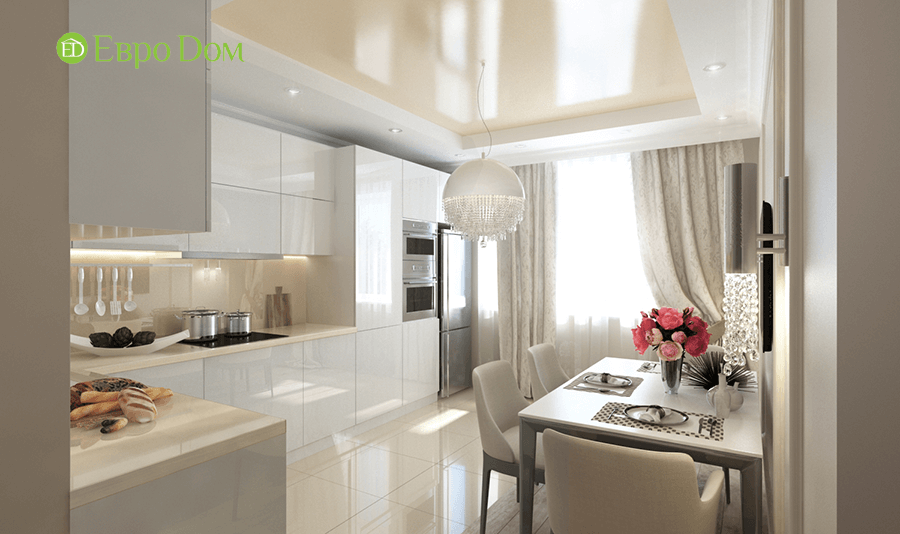 Дизайн интерьера 2-комнатной квартиры 77 кв. м в современном стиле. Фото 04