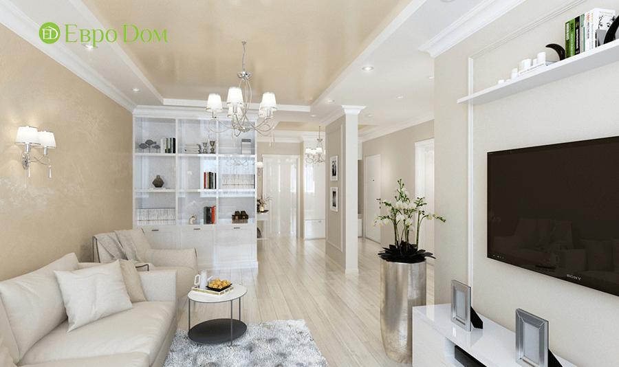 Дизайн интерьера 2-комнатной квартиры 77 кв. м в современном стиле. Фото 07