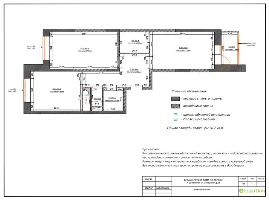 Дизайн интерьера 2-комнатной квартиры 77 кв. м в современном стиле. Фото 011