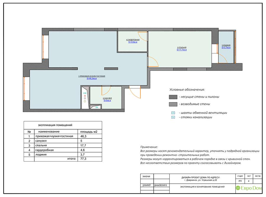 Дизайн интерьера 2-комнатной квартиры 77 кв. м в современном стиле. Фото 014