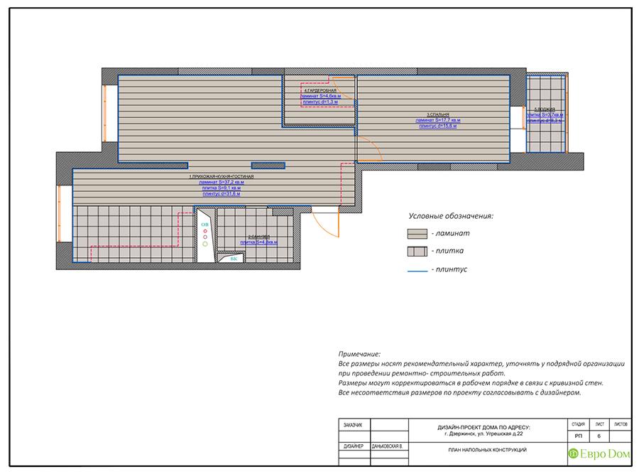 Дизайн интерьера 2-комнатной квартиры 77 кв. м в современном стиле. Фото 016