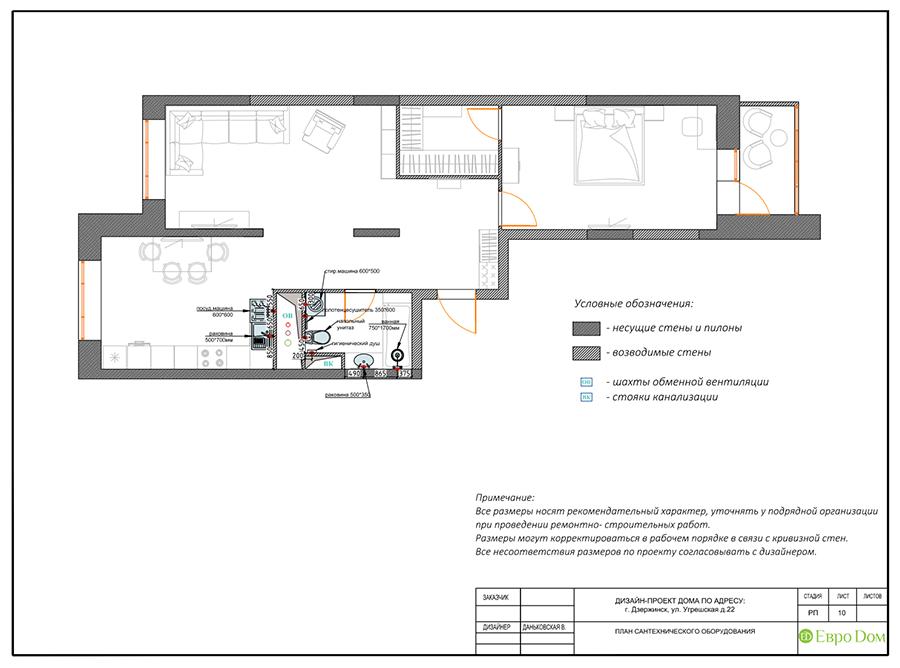 Дизайн интерьера 2-комнатной квартиры 77 кв. м в современном стиле. Фото 020