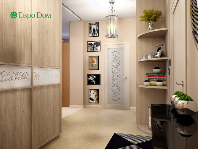 Дизайн двухкомнатной квартиры 80 кв. м в современном стиле. Фото 02