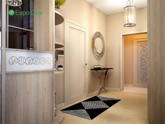 Дизайн двухкомнатной квартиры 80 кв. м в современном стиле. Фото 03
