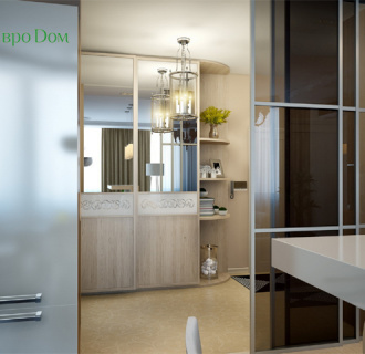 Дизайн двухкомнатной квартиры 80 кв. м в современном стиле. Фото проекта