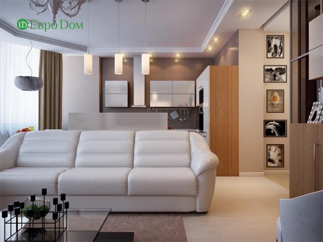 Дизайн двухкомнатной квартиры 80 кв. м в современном стиле. Фото 05