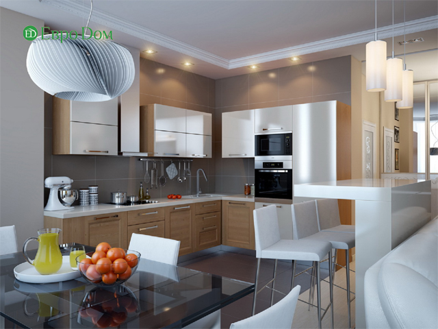 Дизайн двухкомнатной квартиры 80 кв. м в современном стиле. Фото 08