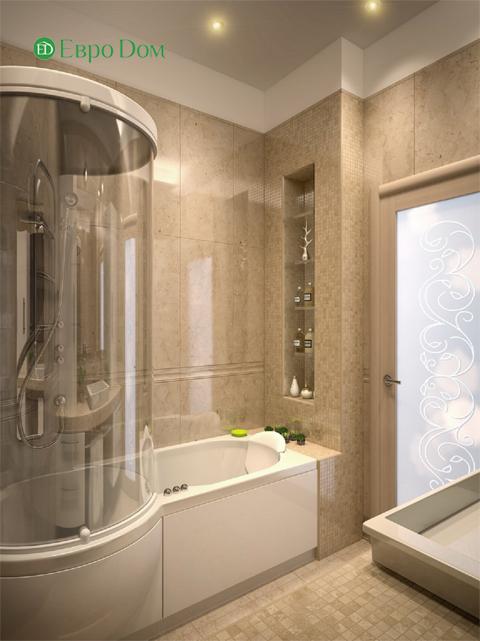 Дизайн двухкомнатной квартиры 80 кв. м в современном стиле. Фото 010