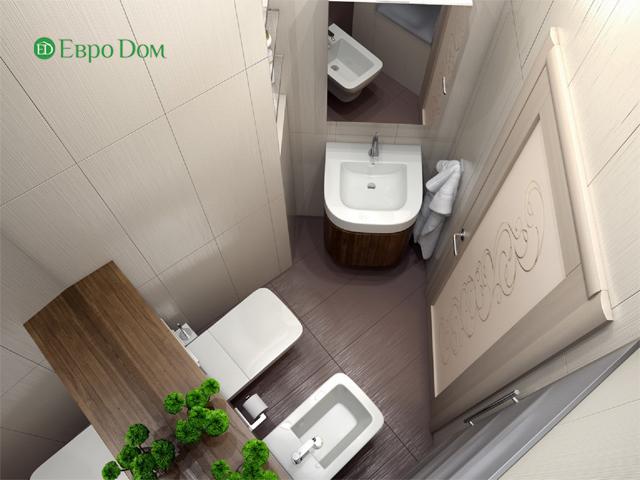 Дизайн двухкомнатной квартиры 80 кв. м в современном стиле. Фото 017