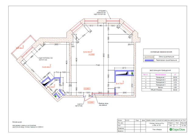 Дизайн двухкомнатной квартиры 80 кв. м в современном стиле. Фото 018