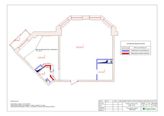 Дизайн двухкомнатной квартиры 80 кв. м в современном стиле. Фото 019