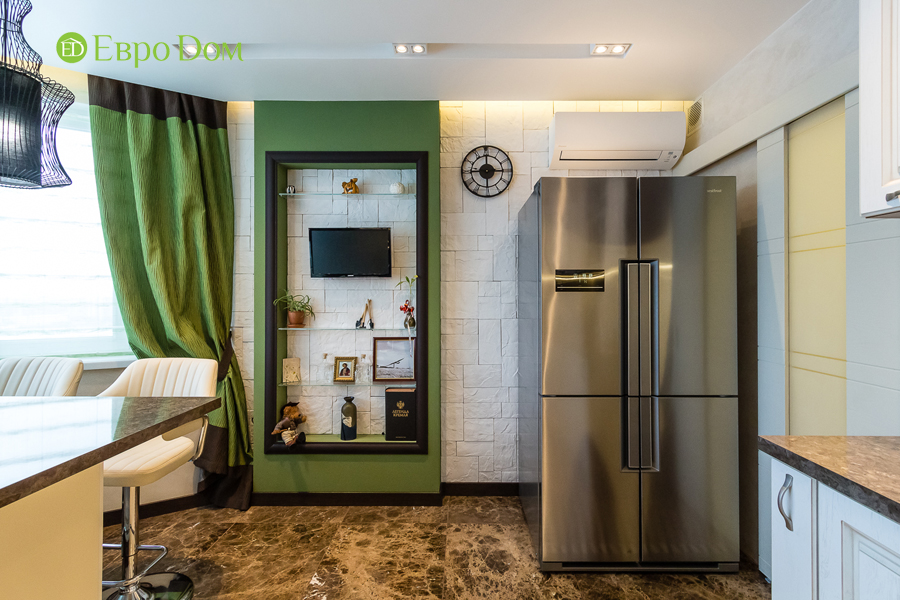 Дизайн двухкомнатной квартиры 77 кв. м в современном стиле. Фото 034
