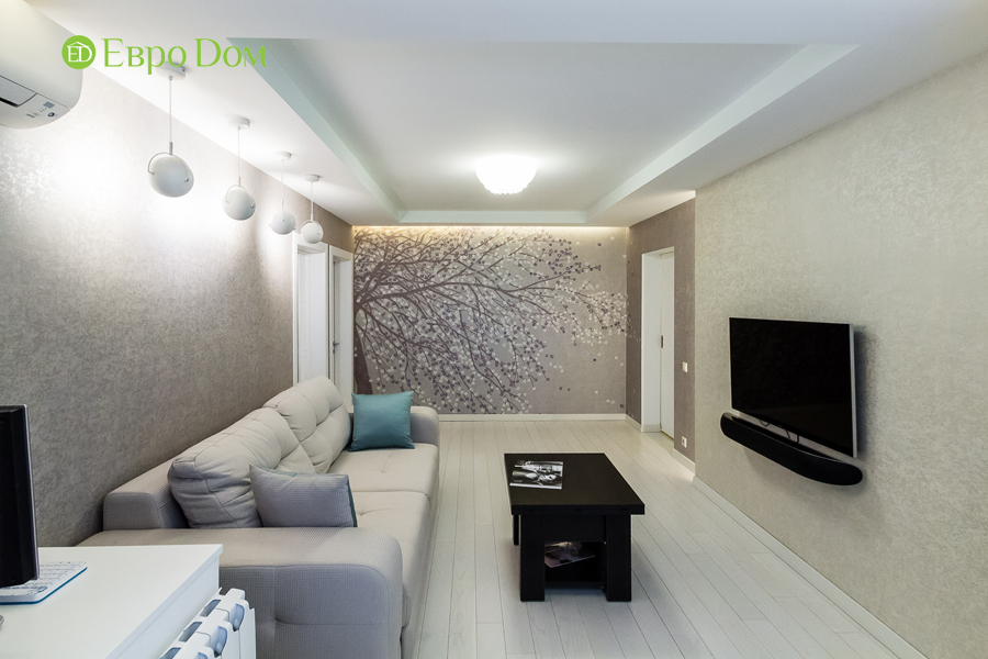 Дизайн двухкомнатной квартиры 77 кв. м в современном стиле. Фото 041