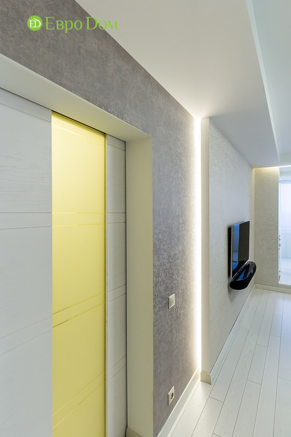Дизайн двухкомнатной квартиры 77 кв. м в современном стиле. Фото 042