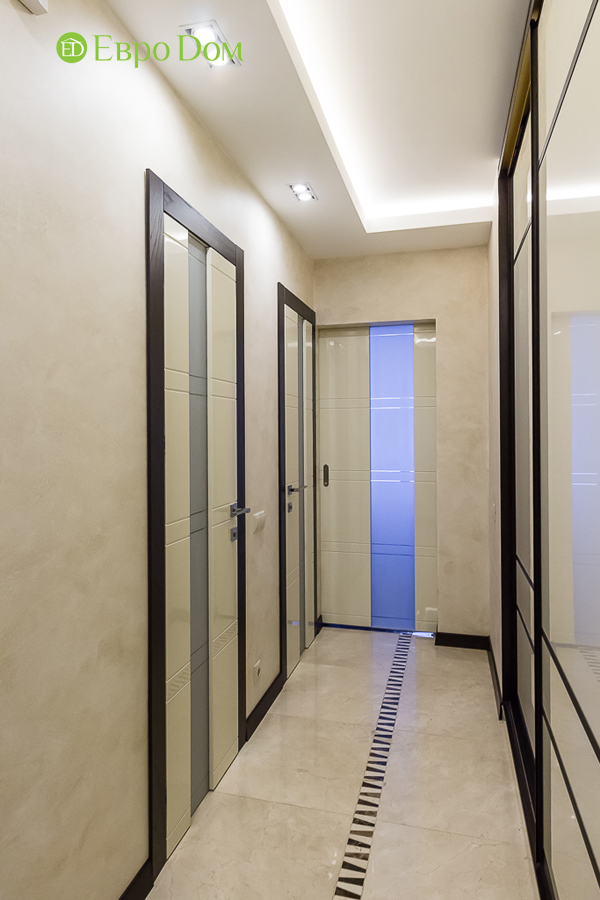 Дизайн двухкомнатной квартиры 77 кв. м в современном стиле. Фото 044