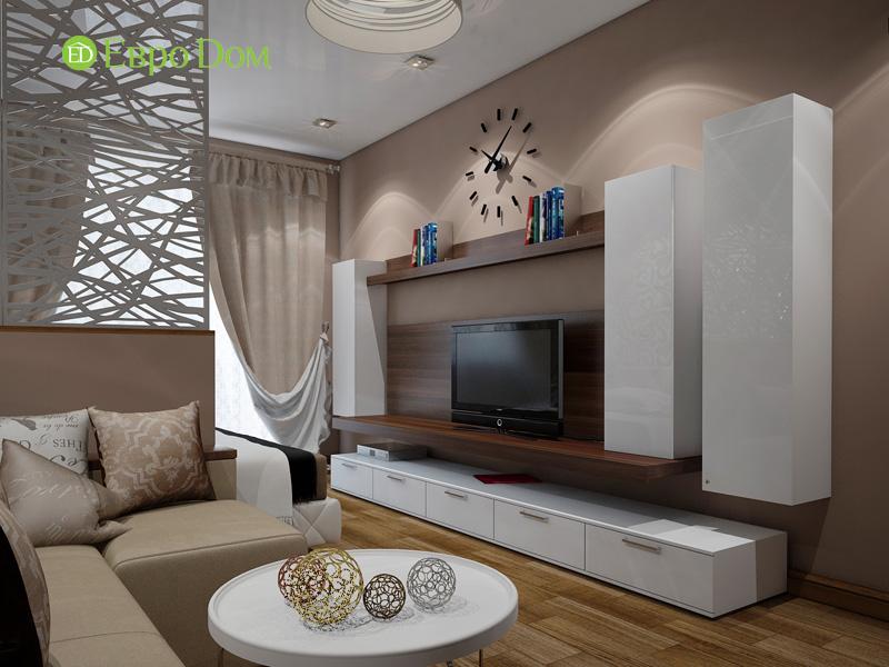 Дизайн двухкомнатной квартиры 66 кв. м в стиле контемпорари. Фото 02