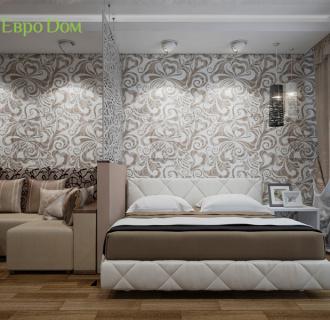 Дизайн двухкомнатной квартиры 66 кв. м в стиле контемпорари. Фото проекта
