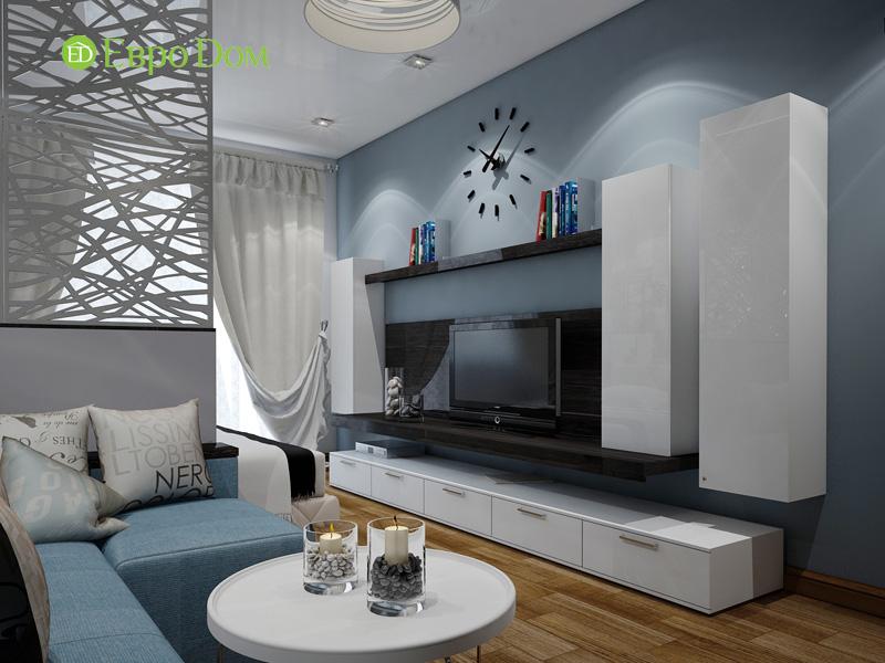 Дизайн двухкомнатной квартиры 66 кв. м в стиле контемпорари. Фото 09