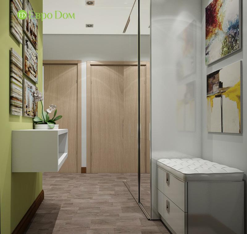 Дизайн двухкомнатной квартиры 66 кв. м в стиле контемпорари. Фото 017