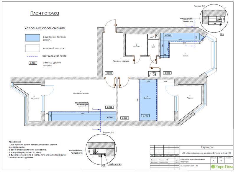 Дизайн двухкомнатной квартиры 66 кв. м в стиле контемпорари. Фото 027