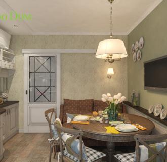 Дизайн двухкомнатной квартиры 72 кв. м в стиле прованс. Фото проекта