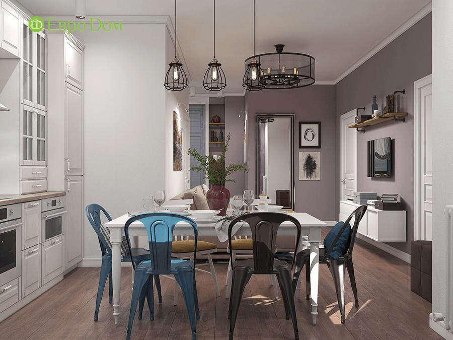 Дизайн двухкомнатной квартиры 67 кв. м в стиле прованс. Фото 011