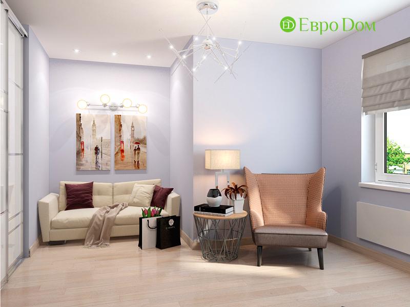 Дизайн интерьера квартиры в стиле прованс, 2 комнаты, 67 кв. м. Фото 02