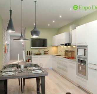 Дизайн двухкомнатной квартиры 67 кв. м в стиле прованс. Фото проекта