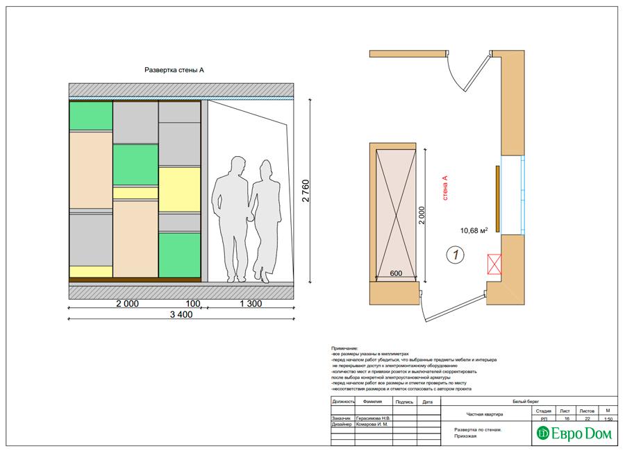 Дизайн интерьера квартиры в стиле прованс, 2 комнаты, 67 кв. м. Фото 026