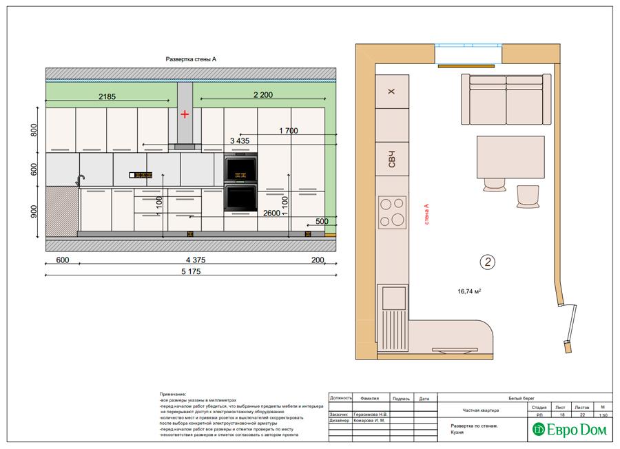 Дизайн интерьера квартиры в стиле прованс, 2 комнаты, 67 кв. м. Фото 028