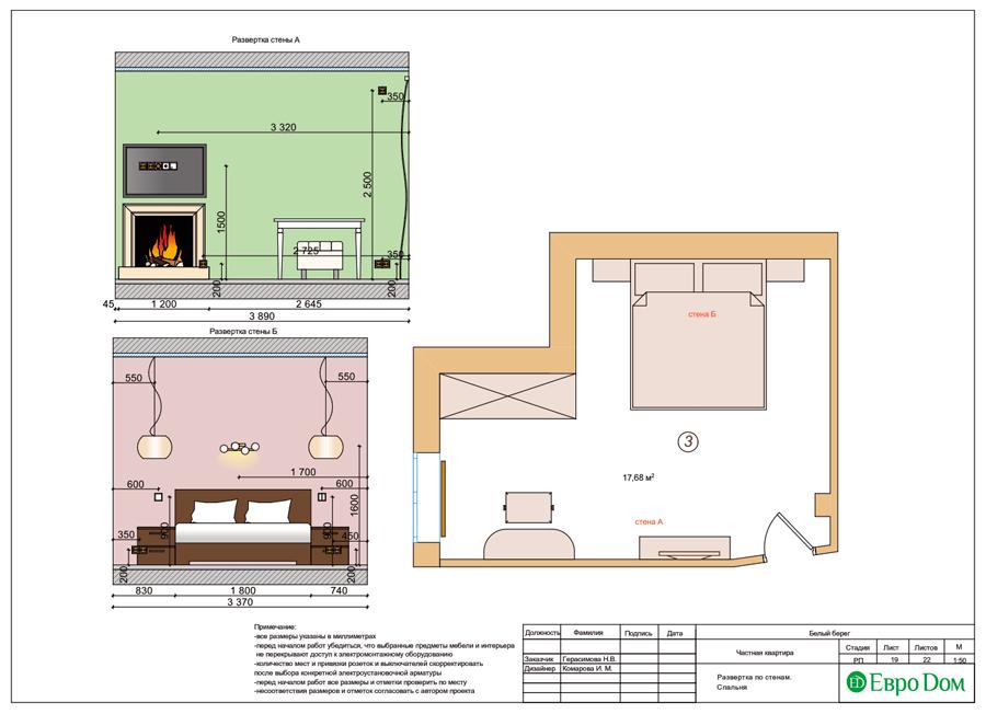 Дизайн интерьера квартиры в стиле прованс, 2 комнаты, 67 кв. м. Фото 029