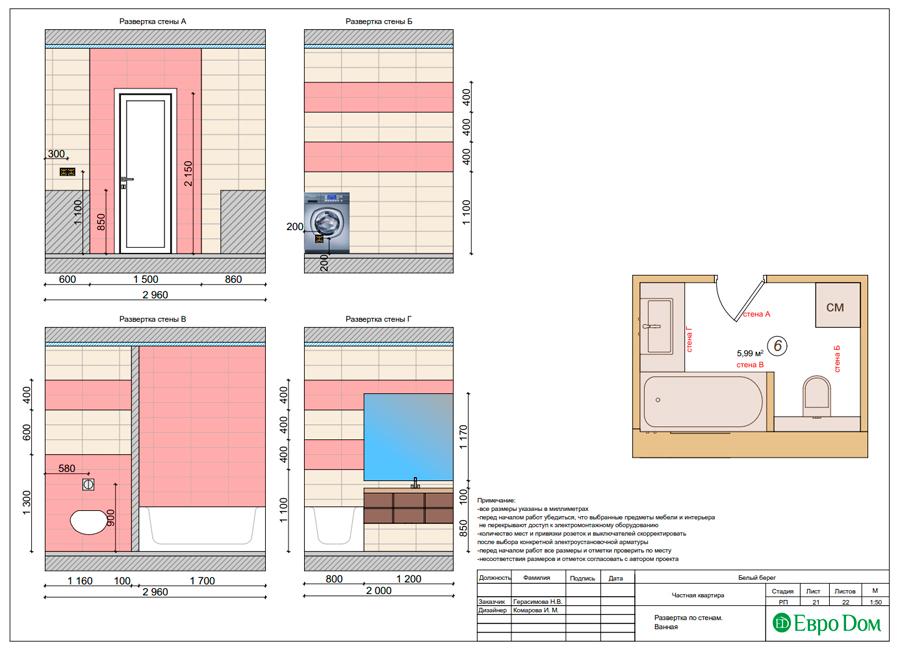 Дизайн интерьера квартиры в стиле прованс, 2 комнаты, 67 кв. м. Фото 031