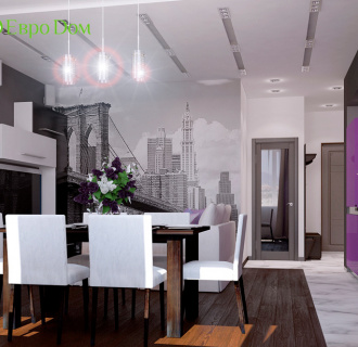 Дизайн двухкомнатной квартиры 84 кв. м в японском стиле. Фото проекта