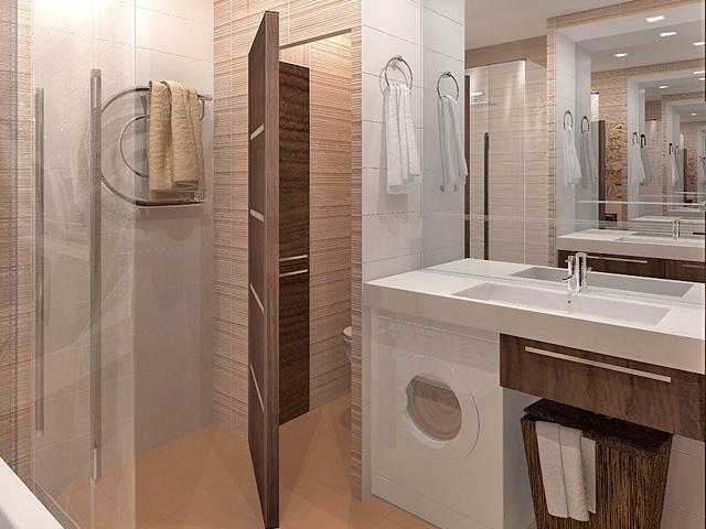 Дизайн двухкомнатной квартиры 62 кв. м в современном стиле. Фото 03