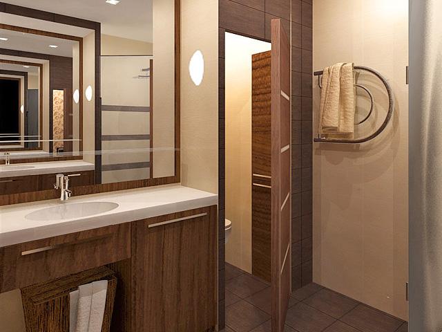 Дизайн двухкомнатной квартиры 62 кв. м в современном стиле. Фото 07