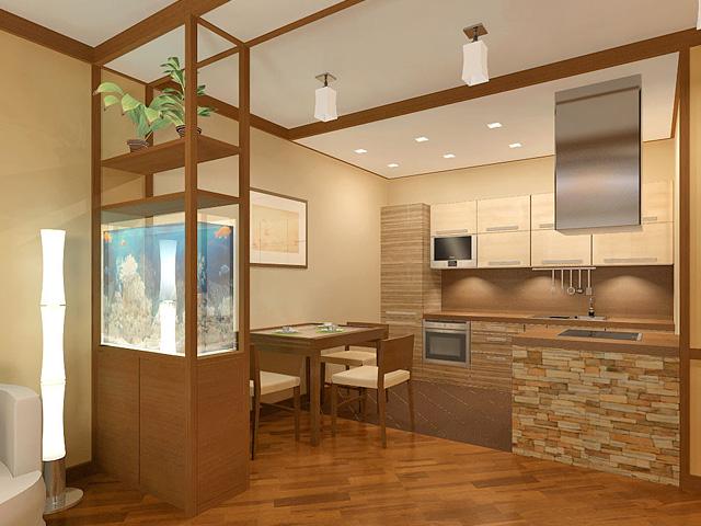 Дизайн двухкомнатной квартиры 62 кв. м в современном стиле. Фото 09