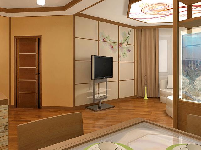 Дизайн двухкомнатной квартиры 62 кв. м в современном стиле. Фото 010